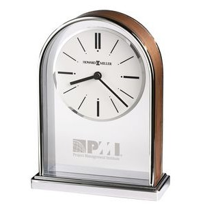 Howard Miller Milan Metal Arch Tabletop Clock