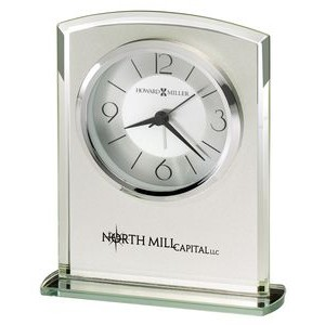 Howard Miller Glamour Frosted Glass Tabletop Clock
