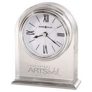 Howard Miller Optica Crystal Arched Table Clock