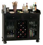 Custom Howard Miller Cabernet Hills Black Wine & Bar Cabinet