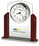 Custom Howard Miller Landon arched glass tabletop clock