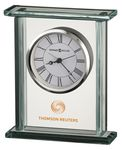 Custom Howard Miller Cooper Rectangle Glass Corporate Gift Clock