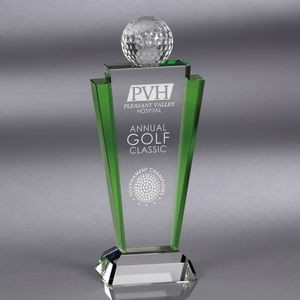 Howard Miller Meridian - Medium Golf Crystal Award