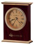 Custom Howard Miller Laurel Rosewood Carriage Alarm Clock w/ Gold Dial