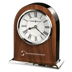 Howard Miller Palermo Walnut Veneer Table Clock