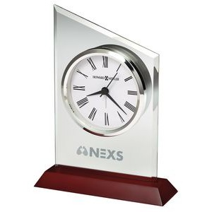 Howard Miller Benton Beveled Jade Glass Tabletop Clock