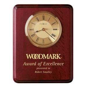 Howard Miller Honor Time I Rosewood Rectangle Clock Plaque