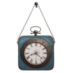 Howard Miller Windrose square, metal hanging wall clock