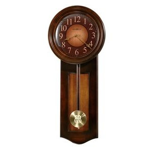Howard Miller Avery Rustic Cherry Finish Wall Clock w/ Umber Panel