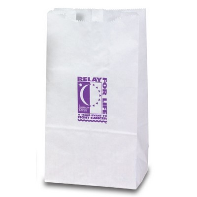 12 Lb. White Kraft Paper Lunch Sack