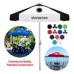 Custom The Vented Bistro Patio Umbrella -- Commercial Quality