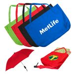 Custom The Umbrella Tote Bag with Spectrum Folding Umbrella