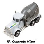Custom Industry Themed Cement Truck Die Cast Vehicle