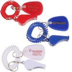 Custom Whistle w/ Coil Key Chain