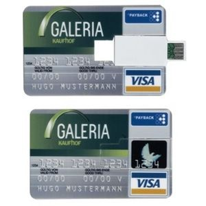 Credit Card Size USB Drive - 512 MB