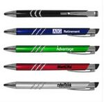Custom Metallic Pen w/ Silver Accents & Clip