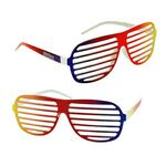Custom Rainbow Slotted Sunglasses