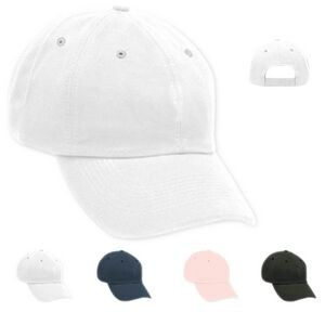 Solid Organic Twill Unstructured Cap - Embroidered