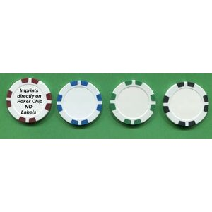 Poker Chips, Deluxe 8 Stripe Design