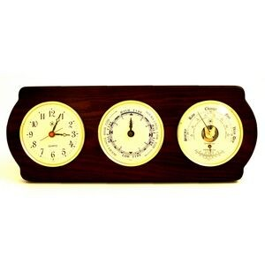 Tide & time Clock w/ Weather Station - Ash