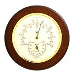 Custom Thermometer & Hygrometer on Cherry Wood