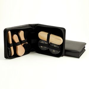 Shoe Shine Kit - Black Leather
