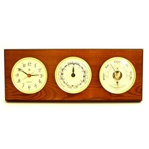 Tide & time Clock w/ Weather Station - Oak