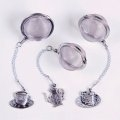 Custom Tea Party Tea Ball Infuser Set w/ Pewter Charms (No Display)