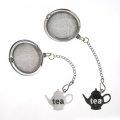 Custom White & Black Teapot Stainless Steel Tea Infuser