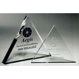 "Mini Triangle Paperweight Award (4""x3/8"")"