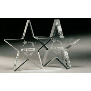 "Mini Star Paper Weight Award (4""x3/8"")"