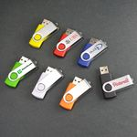 Custom Swivel, USB Flash Drive (2GB)