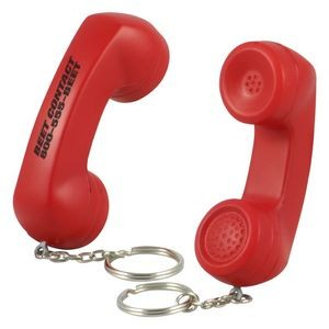 Telephone Receiver Stress Reliever Key Chain