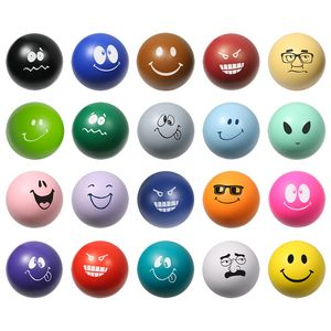 Custom Printed Emoticon Stress Ball