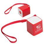 Custom Wireless Mini Cube Speaker w/Selfie Button & Mic