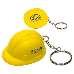 Hard Hat Stress Reliever Key Chain