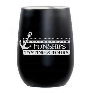 9 Oz. Matte Black Stainless Steel Stemless Wine Tumbler