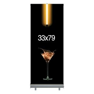 "Retractable Banner & Stand Set (33""x79"")"