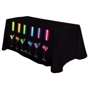 Digital 8 Throw Table Cover - Standard Poly Fabric