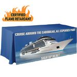 Custom Digital 8' Fitted Certified Flame Retardant Table Cover