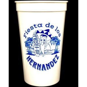 22 Oz. White Souvenir Stadium Cup