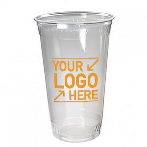 24 Oz. Clear Plastic Polystyrene Soft-Flex Disposable Tumbler