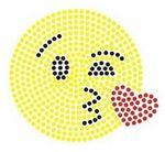 Custom Kiss Face Emoji Rhinestone Transfer