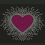 Custom Bursting Heart Rhinestone Transfer