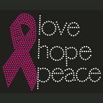 Custom Love Hope Peace Rhinestone Transfer