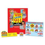 Custom Dial 9-1-1 In An Emergency Kit W/Activity Book, Stickers, Ruler, & Tattoo