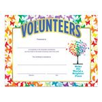 Custom Foil-Stamped Recognition Certificate (Volunteers Make The World A Brighter Place)