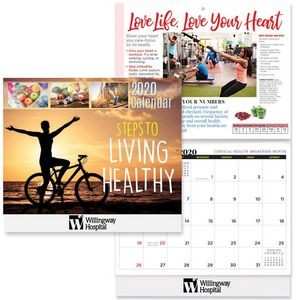 Steps To Living Healthy 2020 Wall Calendar - Personalization Available