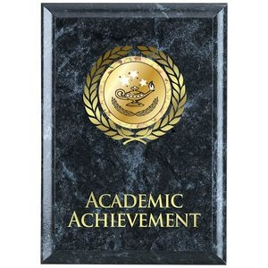 Academic Achievement Black Marble Award Plaque