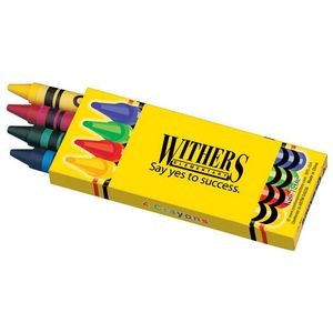 4 Pack Of Non-Toxic Crayons With Crayon Box - Personalization Available